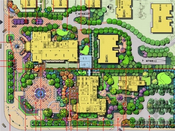 [北京]欧式别墅区商业会所及售楼处景观规划设计方案(著名公司设计)