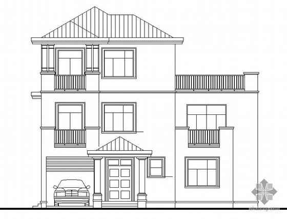 [东莞市]某豪园三期别墅区(A1型别墅)建筑结构水电施工图(含节能