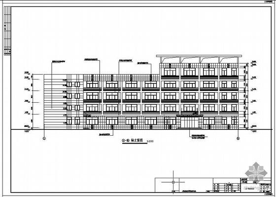 常州某多层框排架厂房建筑结构设计图(含PKPM计算模型)