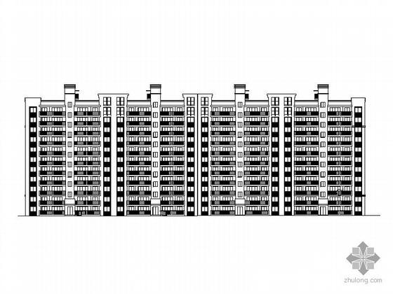 [长沙]某学府住宅小区十一层南梯板式住宅建筑施工图(含节能计算表)