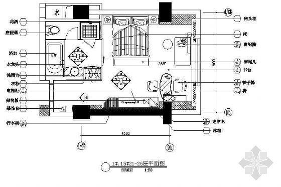 五星酒店标准客房设计