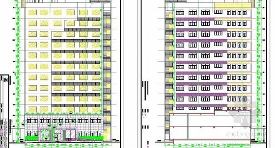 [广东]某12层框架政府办公主楼室内外装饰工程量清单预算(CAD图964张)