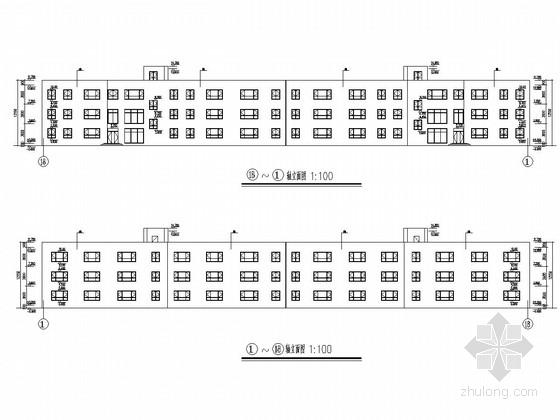 5100平三层学校办公楼建筑结构施工图(可用于毕设)