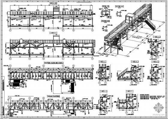 [英文]某钢筒操作平台结构图
