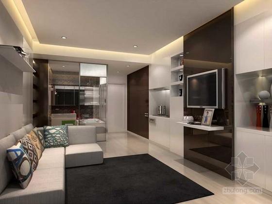 [上海]soho项目现代样板房软装室内装修设计方案