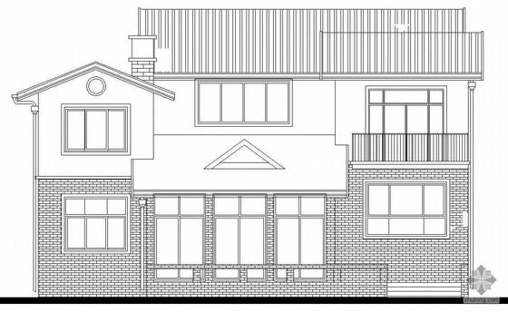 [济南]某二层别墅建筑施工图(一)