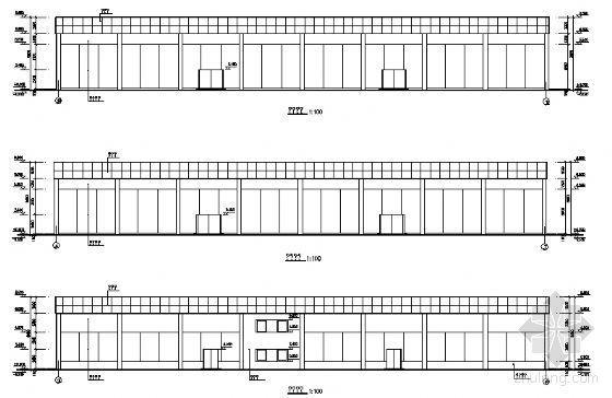 某单层汽车展厅建筑方案图-2