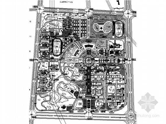 某城市学院新区修建性详细规划图