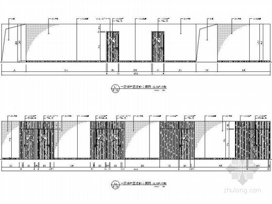 [江苏]历史文化名城高档现代风格星级宾馆装修施工图(含效果)dwg .zip棋牌区走廊立面图