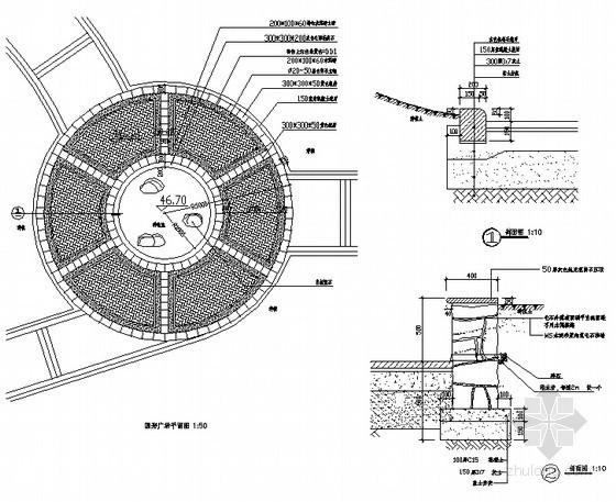 圆形广场铺装做法详图