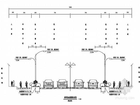 [安徽]城市次干路道路照明工程施工图设计15张