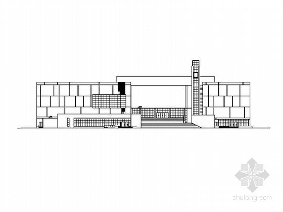[重庆]重点大学四层教学楼示范楼建筑施工图