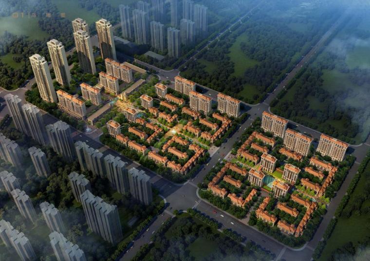 [安徽]新古典风格高层住宅楼建筑设计方案文本(中标方案)