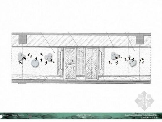 [三亚]五星级酒店艺术软装设计方案概念图