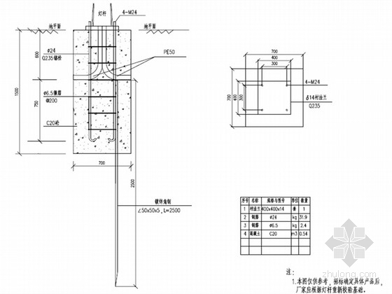 [浙江]城市支路道路照明工程施工图设计13张