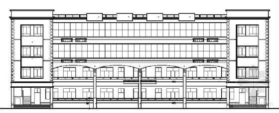 某四层小型办公楼建筑方案图