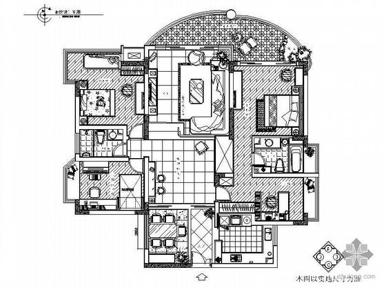 [重庆]某住宅三居室空间装修图