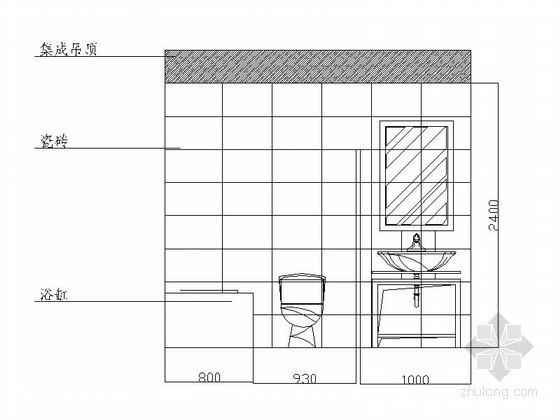 [贵阳]某四居室卫生间立面图