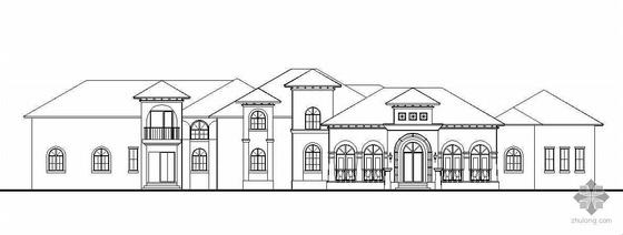 某西式风格二层小别墅建筑结构施工图