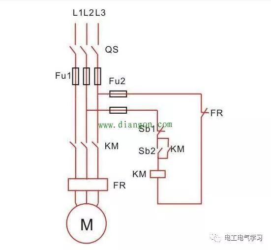 交流接触器自锁和互锁电路图原理图解图片