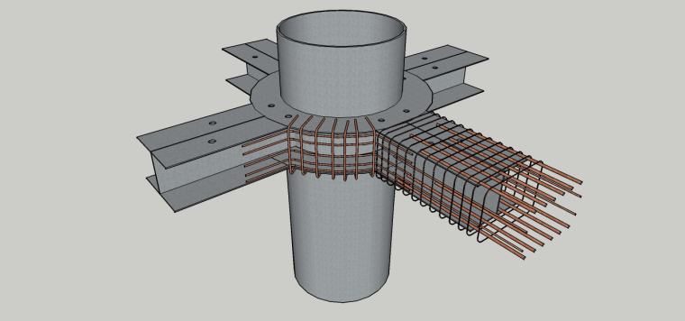 钢管混凝土柱与钢筋混凝土梁组合结构施工工法
