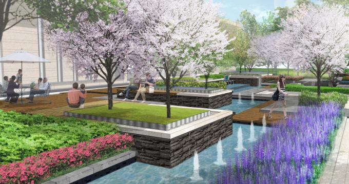 [重庆]生态江湾台地花园别墅展示区景观设计方案