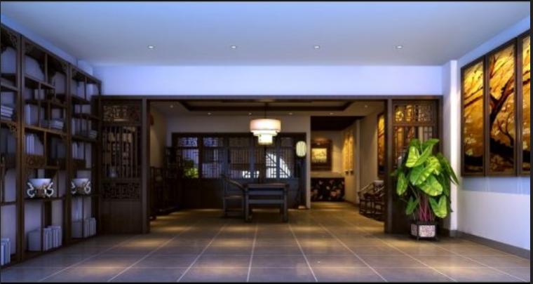 许昌茶社室内设计施工图及效果图