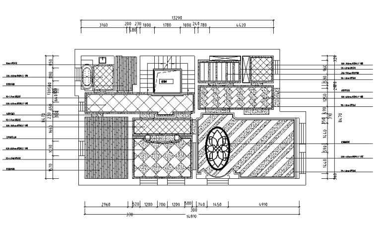 [黑龙江]新装饰主义风格别墅设计施工图(附效果图+材料表)
