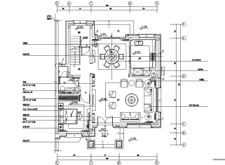 碧桂园现代中式别墅设计施工图(附效果图+物料表+软装设计)