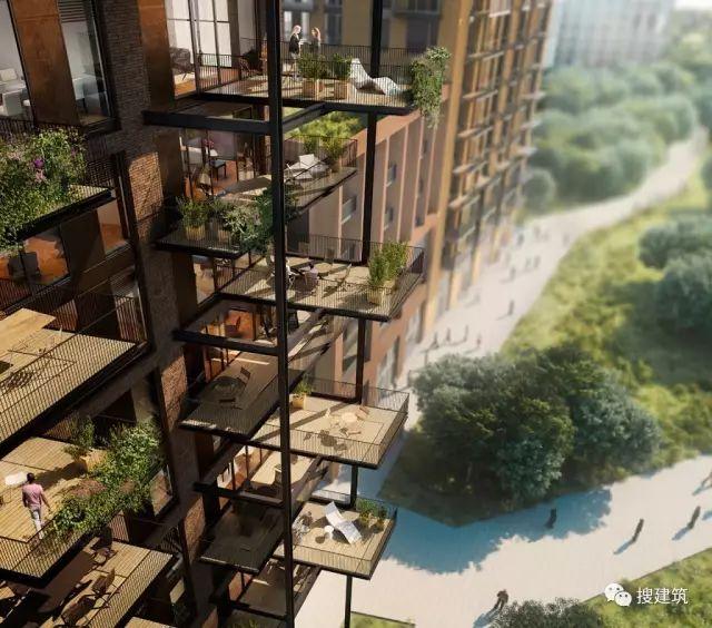"""27米长的""""空中泳池"""",在两栋大楼的第10层连接在一起,中间完全_16"""