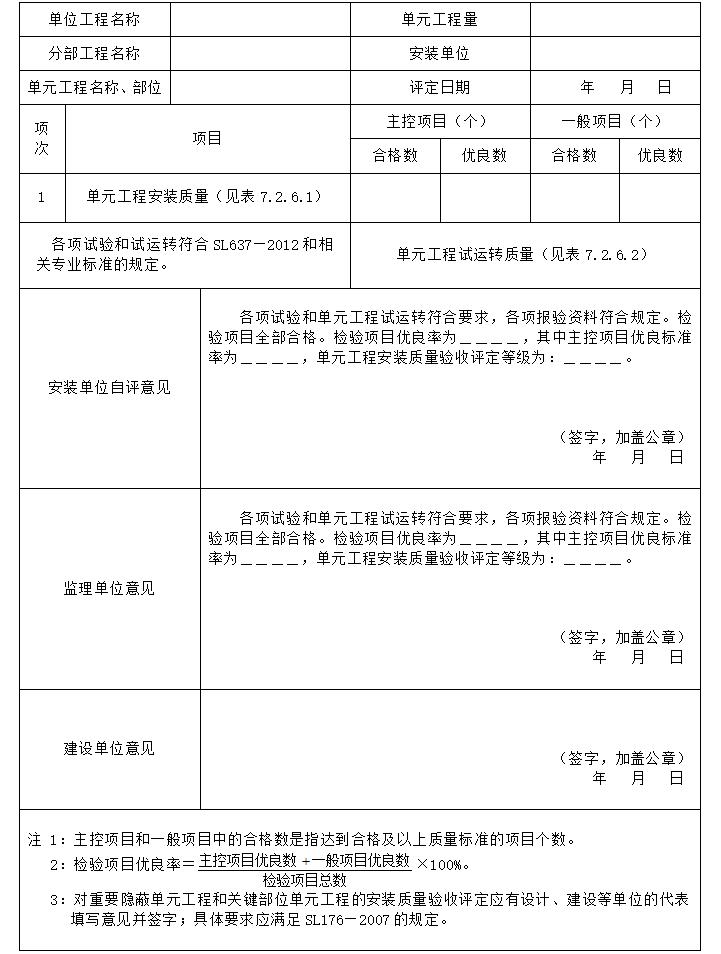 2013水利水电工程施工质量验收评定表及填表说明_4