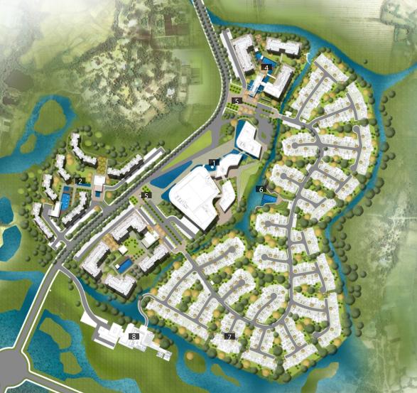 [广东]三亚椰风路项目概念景观设计(PDF+81页)-节点平面