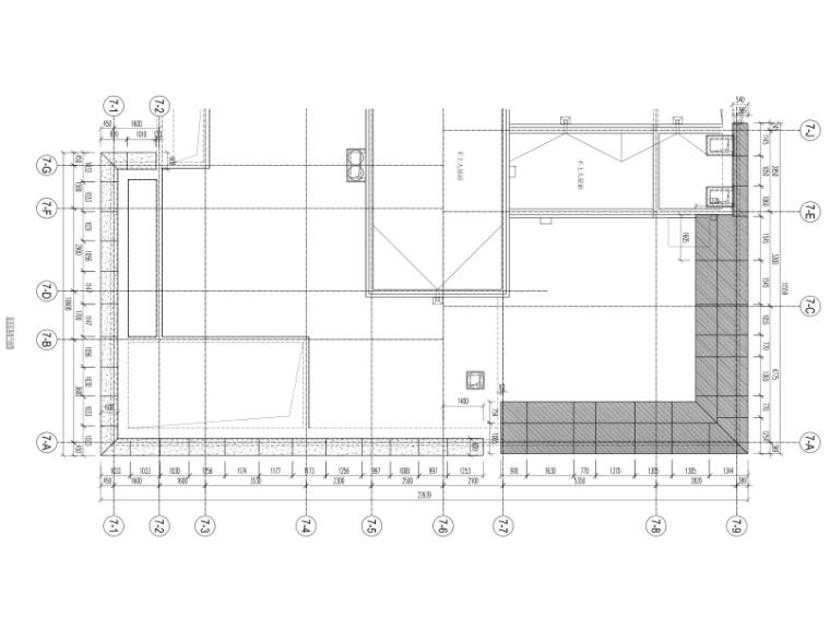 沈阳2栋高层住宅楼幕墙施工图2015_含计算书-屋顶幕墙平面图