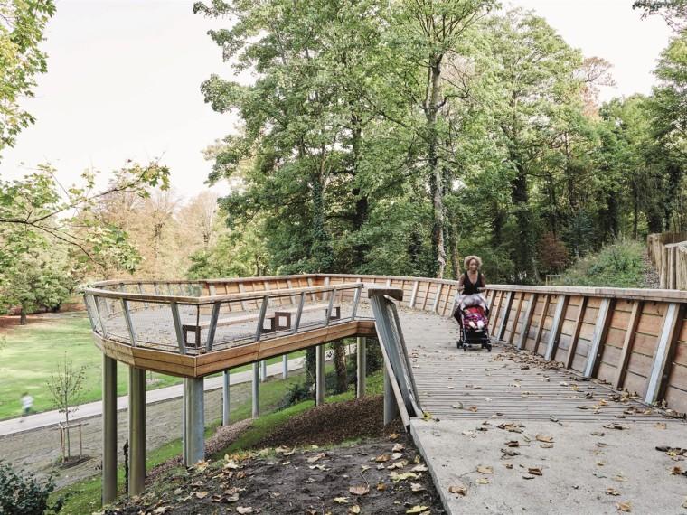 法国克雷伊市生态步行匝道景观