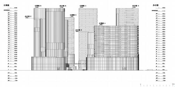商业步行街规划立面图