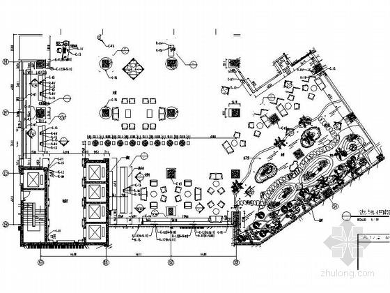[南京]五星级商务酒店大堂及大堂吧装修施工图(含效果)