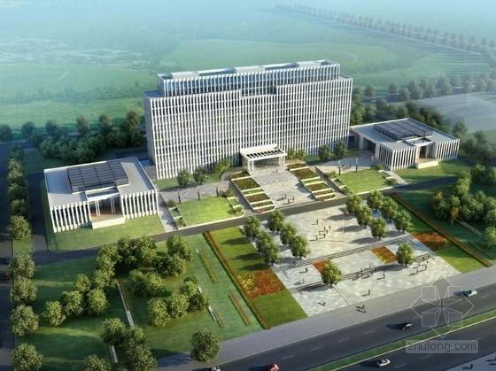 [吉林]绿色生态系行政办公楼及单体建筑设计方案文本