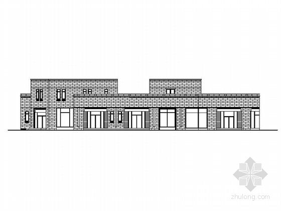 [山东]两层新古典主义风格商业街建筑施工图(含4栋楼 效果图)