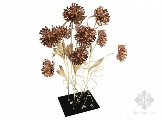 金属花饰3D模型下载