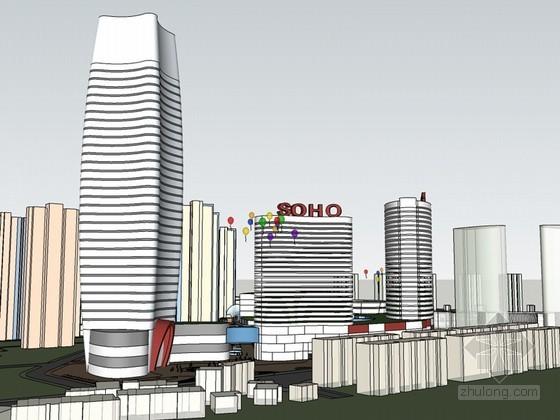 美仑美奂建筑SketchUp模型下载-美仑美奂建筑