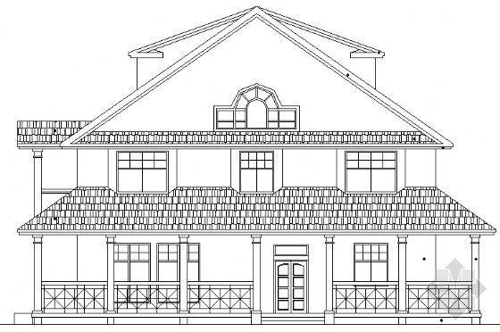 某花园别墅B型全套建筑施工图