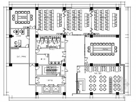 [江苏]某老干部活动中心室内装修施工图(含效果)