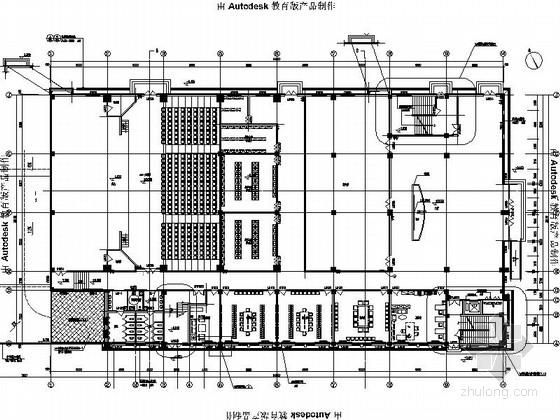 [北京]现代简约行政综合楼室内设计CAD装饰施工图