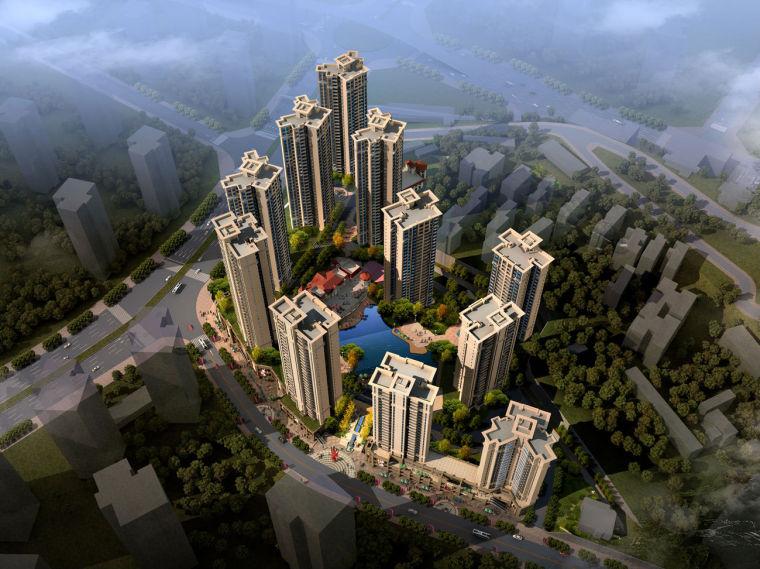 [重庆]欧式现代大型住宅区建筑设计方案文本效果图
