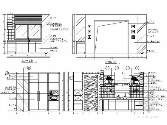 [苏州]风景秀丽生态园区A2型欧式风情三层别墅装修施工图厨房立面图