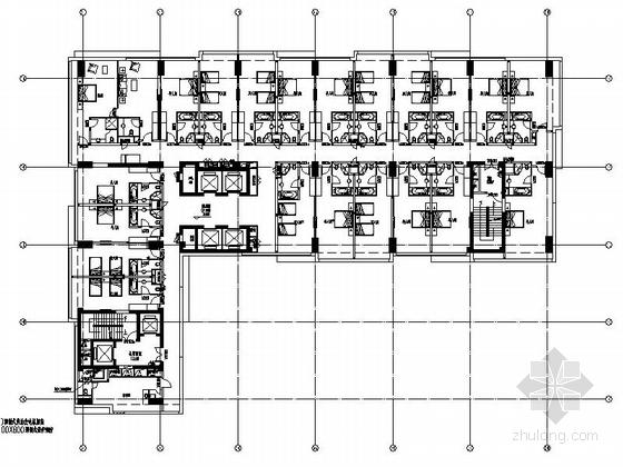 现代风格国际酒店平面图