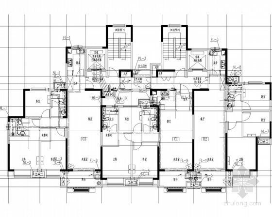 [安徽]98米住宅群给排水消防施工图(无负压供水 系统全)