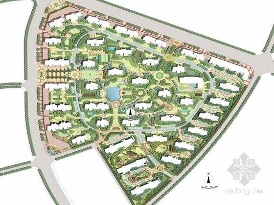 [安徽]欧式风情滨湖居住区景观规划设计方案