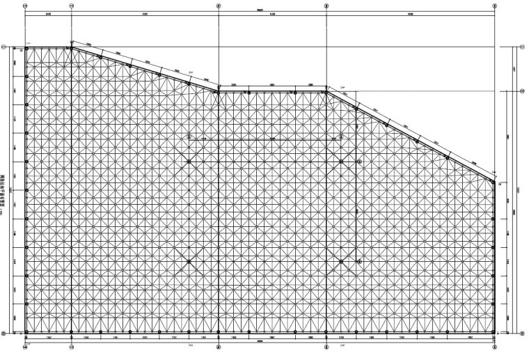 [黑龙江]双层螺栓球网架结构水上世界屋盖结构施工图