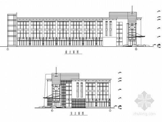 三层框架办公楼建筑及结构图纸(含施工组织设计)